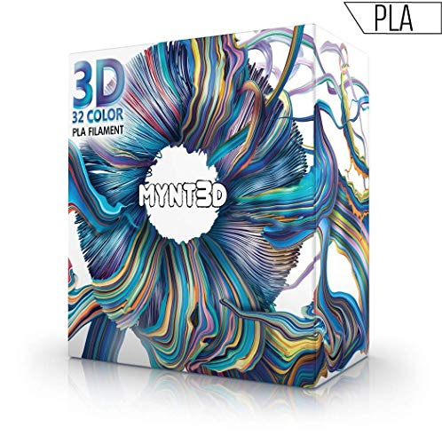 MYNT3D SuperPack PLA 3D Pen Filament Refills, 32 Colors, 10m Each, Over 1kg