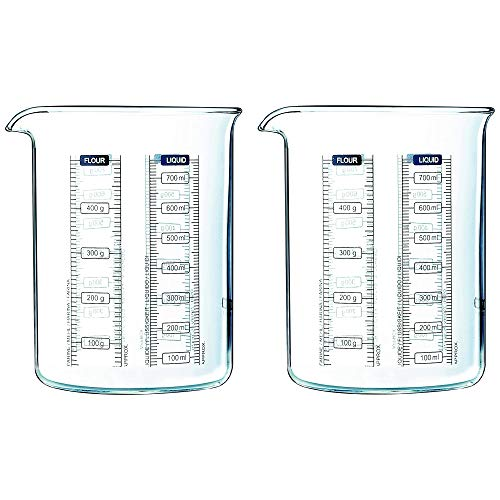 Pyrex Classic Kitchen Lab Measure and Mixing Beaker 500ml Transparent (Pack of 2)
