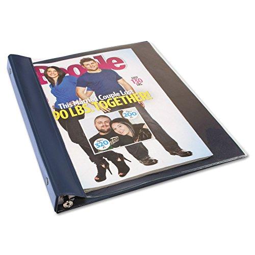 Advantus ANG120D Catalog/Magazine Binder, 11 x 9 1/2, Clear Front, Navy Blue Back