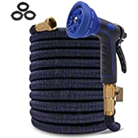 Hosetop 100ft Expandable Flexible Water Hose with Triple Latex Core for Garden Watering, Pet Showering & Car Washing