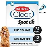 Bob Martin Clear <span class='highlight'>Flea</span> & Tick Fipronil Spot On for Medium <span class='highlight'>Dog</span>, 3 Tubes
