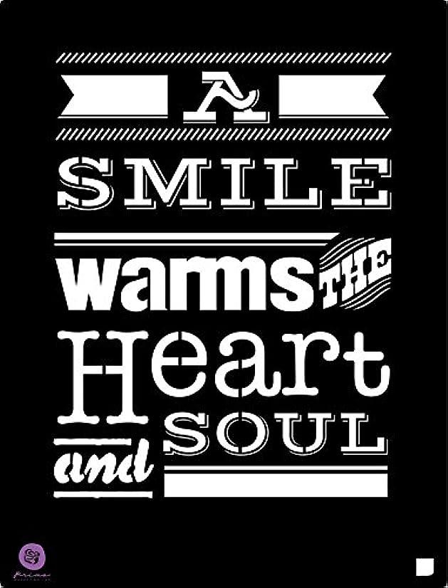 Prima Marketing 9.5x12 Stencil: A Smile.