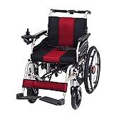 SSHHI Tragbar Elektrischer Rollstuhl,Faltbar Blei-Säure-Batterien Gehhilfe,Für Ältere Menschen,Behinderte Feste/rot/B -