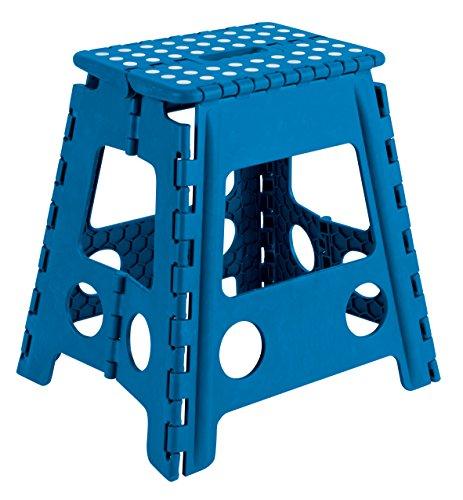Arregui TB-039-A Sgabello Pieghevole Multiuso Alto 39 cm, Blu