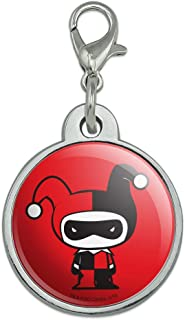 GRAPHICS & MORE Harley Quinn Cute Chibi Character Chrome Plated Metal Pet Dog Cat ID Tag