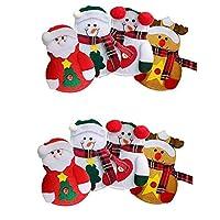 Materiale: stoffa. Semplice e generoso, nuovo stile, goditi il Natale! Un modo semplice e veloce per vestire la tua casa o la tavola di Natale,Aggiungi l'atmosfera natalizia a casa tua. Dimensioni perfette: adatta facilmente a un set completo di po...