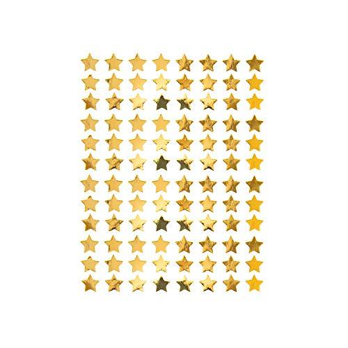 Oblique Unique® 960 Sterne Sticker Stern Aufkleber für Weihnachten Weihnachtsdeko Geschenkdeko Basteln Glänzend in Gold