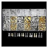 ZYTANG 540 unids/Set Terminales de engarce de Alambre eléctrico Aislado 2.8/4.8/6.3mm Conectores de Pala Kit de Surtido con Caja