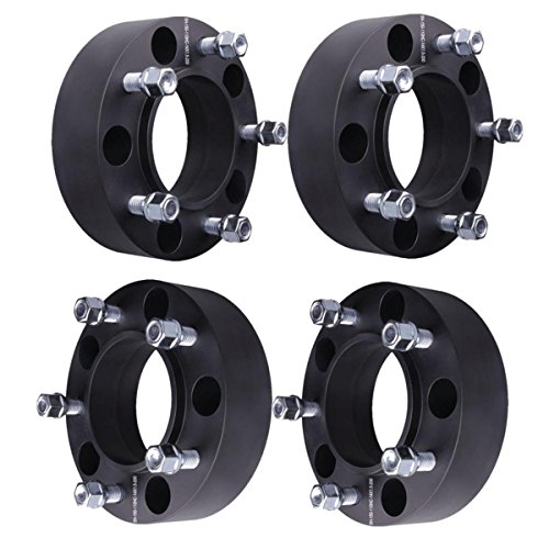WEELTECH 4X 2 Hubcentric Wheel Spacers 5x150mm with M14x1.5 Studs Compatible with 1998-2019 for Toyota Land Cruiser |2008-2019 Sequoia |1998-2008 for Lexus LX 470 |2006-2019 for Lexus LX 570