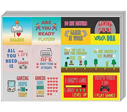 Creanoso Fun Gamer Stickers (5 vel) - Totaal 60 stuks (5 x 12st) Individuele Small Size 2.1