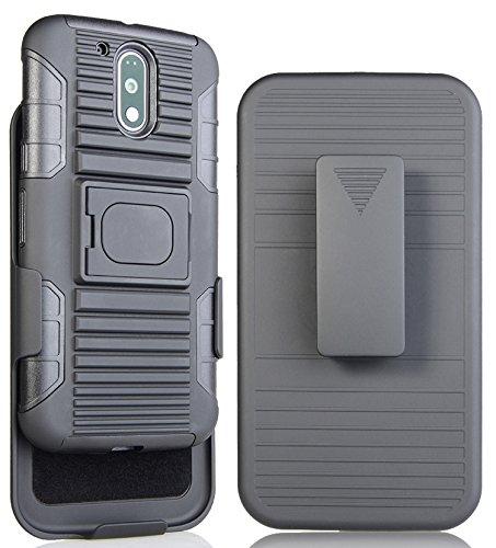 Moto G4 Plus CASE Clip, NAKEDCELLPHONE'S Black Grip Ring CASE Rugged Cover + Belt Clip Holster Stand for Motorola Moto G4, G4 Plus, Moto G 4th Generation (XT1622 XT1625 XT1644 XT1641 XT1642 XT1644) -  RING-MOTOG4PLUS