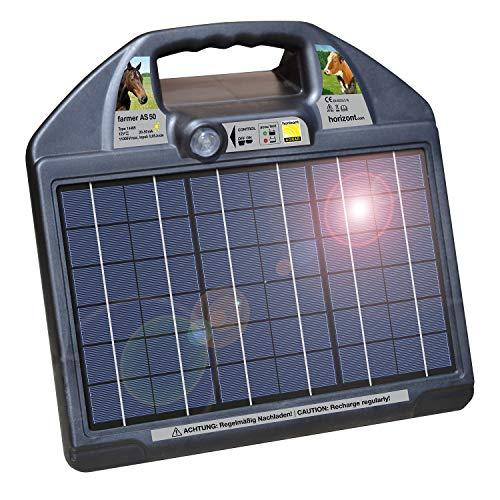 Weidezaungerät HORIZONT Farmer AS50 Solar 12Volt elektrozaungerät weidegerät solar batteriegerät stromgerät weide weidezaun elektrozaun stromkasten