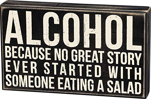 Alcohol wood box man cave sign