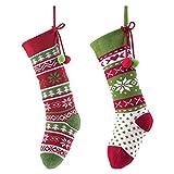Victor's Workshop Conjunto de 2 Calcetines de Navidad Medias de Santa Claus calcetín de Navidad...