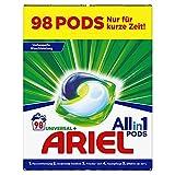 Ariel Waschmittel Pods All-in-1, 98 Waschladungen (2 x 49) Universal Frischer Wäscheduft und strahlende Reinheit