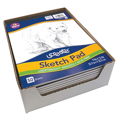 "UCreate Sketch Pad, Standard Weight, 9"" x 12"", 50 Sheets Photo #4"