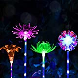 CGN Garden Solar Lights Outdoor Solar Acrylic Bubble RGB Color Changing Solar Powered for Garden Patio Backyard Pathway Decoration (4PCS)