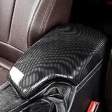LIMBQS 328i 435i Armrest Cover, Carbon Fiber Color Center Consoles Pad for BMW F30 F32 F34 (ABS Material) (F30 2012-2019)