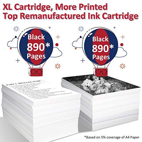 ColoWorld Remanufacturados 350 XL Cartuchos de tinta para hp 350XL para HP PhotoSmart C4580 C4380 C4480 C5280 C4280 C4200 C4400 D5360 OfficeJet J6410 J5780 DeskJet D4260 D4280 D4360 Impresoras(2Negro)