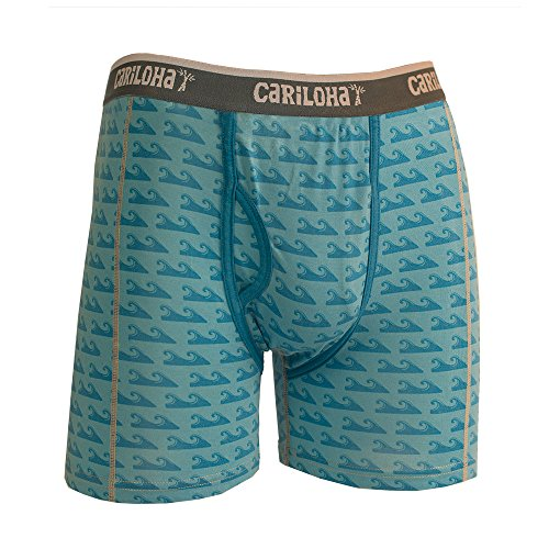 Cariloha Men's Bamboo Underwear  (Medium, Caribbean Blue Wave)