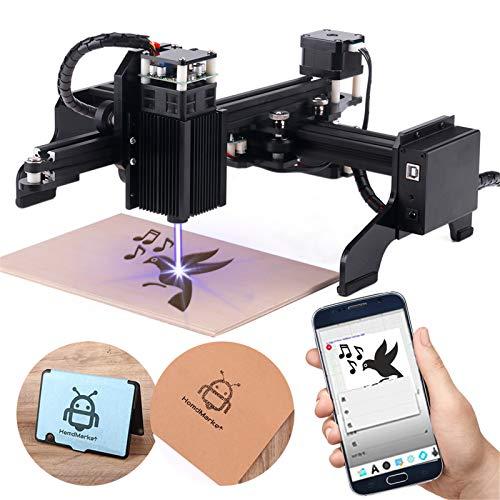 10000mW Lasergravurmaschine,CNC-Graveur für Anfänger mit 24,5 x 12,5 cm Arbeitsbereich Super einfach zu installierender und zu bedienender Graveur zum Schnitzen und Schneiden von Holz (10 W)