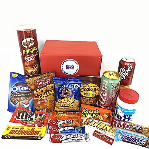 Mistery American BOX Starter Scatola Americana per Principianti con Bevande Patatine Dolci Cioccolato