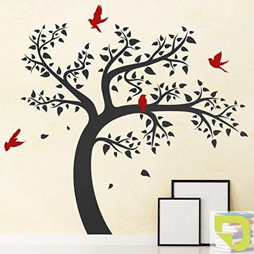 DESIGNSCAPE® Wandtattoo Lebendiger Baum 180 x 167 cm (Breite x Höhe) Farbe 1: hellgrün DW804099-L-F87