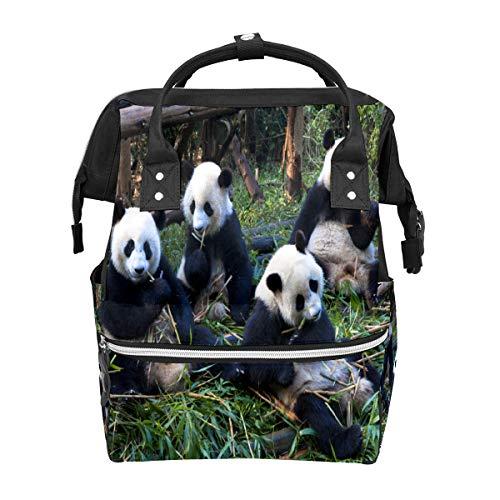 Wickeltasche, Rucksack, Tragetasche, stilvoll, Twill-Rucksack, multifunktional, für Mutterschaft, Kinder, Reise, Rucksack, Wickeltasche für Mutter, Mutter, Mutter, süßer Panda