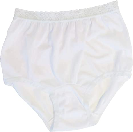 Pack of 3 Carole Womens Nylon Lace Trim Panties Full Cut Briefs