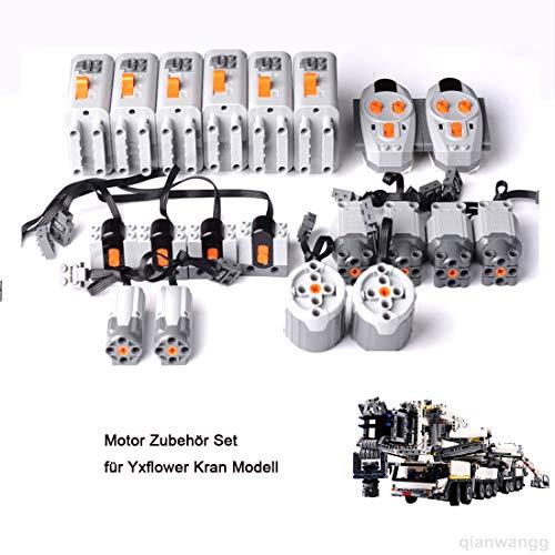 YxFlower Motor Zubehör Set für 7692 Stück Custom Bausteine Across The Battlefield kran