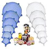 Tapas de Silicona Elásticas, 12 Paquetes de Varios TamañOs Tapas Silicona...