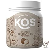 KOS Organic Coconut Milk Powder - Unsweetened, Dairy Free Coffee Creamer - Vegan, Non GMO, Gluten Free, Soy Free, Lactose Free - Keto & Paleo Friendly - 12.6oz (179 Servings)