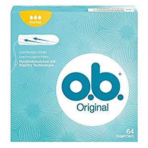 O.B. Tampons Original Normal with Ribbed Sides for Extra Protection