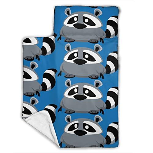 WENBO Raccoon 8 Sleeping Bag, Kids Nap Mat, Soft Lightweight Mats, Children¡¯s Sleeping Bag, Toddler Nap Mat 43X21 INCH
