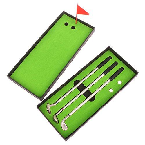 Eliky 3 Stücke Metall Golf Modelle Kugelschreiber + 2 stücke Golfbälle Training Tool Set Zubehör
