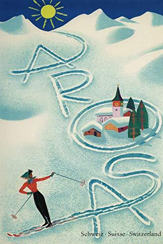 Arosa - Ski - Switzerland - Vintage Swiss Travel Poster (24 x 36)