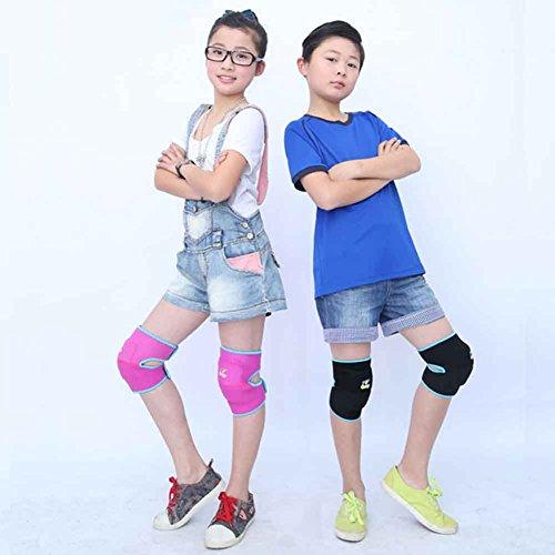 JasmineLi Kids Dancing Knee Sleeves Thicken Sponge Padding Breathable Elastic Knitted Knee Support Knee Warmer Knee Protective Pads