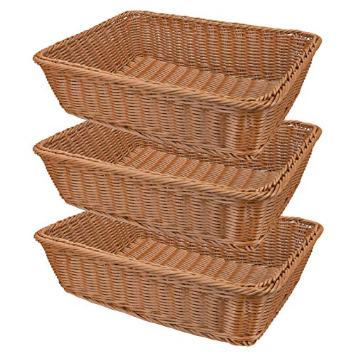 Yarlung 3 Pack Imitation Rattan Woven Bread...