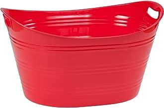 CreativeWare PTUB-FR Red Party Tub 8.5 Gl, Fire, 8.5 Gallon