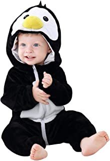 Unisex Baby Hooded Romper Soft Flannel Winter Animal Cosplay Costume Outfit