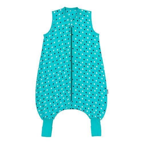 Schlummersack Saco de dormir para bebé con pies de verano, 1 tog, 70 cm de grosor, con piernas y puños alargados para un tamaño de cuerpo de 70 – 80 cm, saco de dormir para bebé, verano, primavera