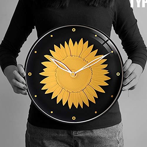 L.J.JZDY Wanduhr Amerikanisches Nordic Art Wanduhr Kreative Mode Persönlichkeit Dekorative Wanduhr 30 * 30 (cm) (Color : Schwarz)