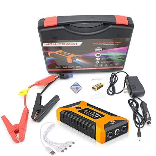 DOOK 600A Arrancador de Coche 18000/99800mAh, para 12V vehículo, con Pinzas Inteligentes Luz LED, para Todo los Motores de Gasolina de Diesel,Amarillo,99800Mah
