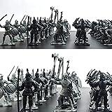 CHOUDOUFU Estatua Escultura Adorno 60 Unids/Set Guerreros De Simulación De Guerra Militar Medieval S...