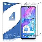 Janmitta para Huawei P Smart S Protector de Pantalla [3 Piezas], 9H Dureza [Alta Definicion] [Fácil de Instalar] Cristal Vidrio Templado Film para Huawei P Smart S
