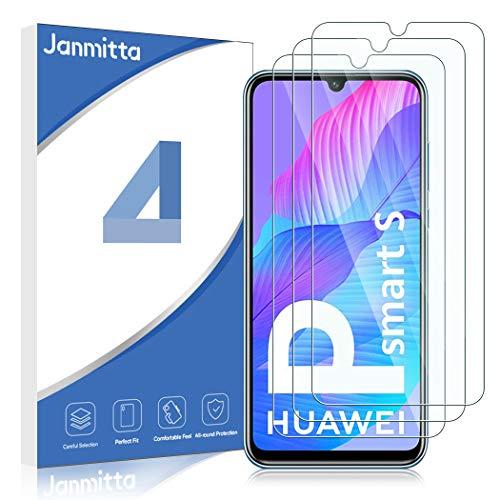 Janmitta für Huawei P Smart S Panzerglas Schutzfolie [3-Stück], 2.5D Panzerfolie 9H Gehärtetem Glass [Anti-Kratzen][Anti-Bläschen] HD Bildschirmschutzfolie mit Huawei P Smart S