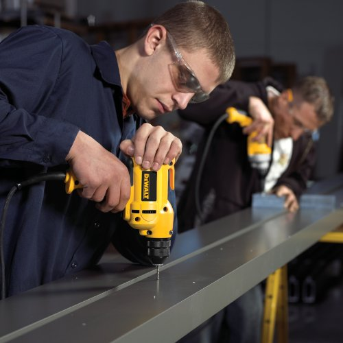 Product Image 4: DEWALT Corded Drill, 8.0-Amp, 3/8-Inch, Variable Speed Reversible, Mid-Handle Grip (DWD115K )