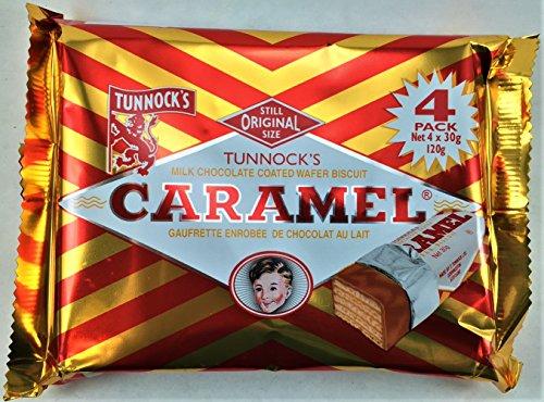 Chocolat Au Lait Caramel Les Plaquettes De Tunnock 4 X 26,5 G - Paquet de 6