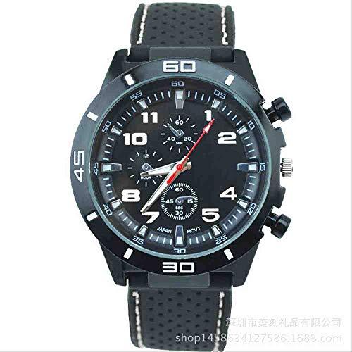 DSNGZ Reloj de Pulsera Nuevo Reloj de Silicona para Hombre con Estilo Estudiante Cool Sports Racer Watch