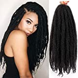AISI BEAUTY Marley Twist Braiding Hair 3 Packs Marley Hair for Twists Synthetic Kinky Twist Braiding Hair Mixed Color for Twists (18 inches,1B#)